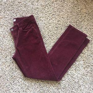 Ann Taylor LOFT Modern Straight Corduroy Pant sz 6